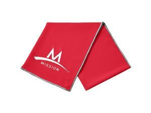 "Mission Athletecare Enduracool Cooling Techknit Towel - 12"" x 33"" - Team Red"