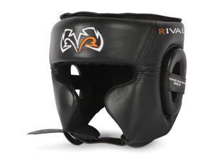 Rival Boxing RHG2 Leather Ultra Sleek Headgear - Large - Black