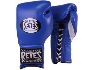 Cleto Reyes Traditional Lace Up Training Boxing Gloves - 12 oz - Blue