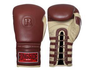 Ringside Heritage Lace Up Sparring Gloves - 16 oz. - Brown