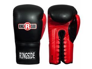 Ringside IMF Tech Sparring Boxing Gloves - 16 oz. - Black/Red