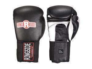 Ringside IMF Tech Hook and Loop Sparring Boxing Gloves - 14 oz. - Black