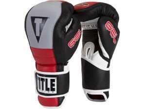 Title Boxing Gel Rush Hook & Loop Bag Gloves - 14 oz. - Black/Gray/Red
