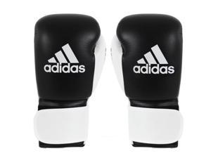 Adidas Glory Professional Hook and Loop Boxing Gloves - 10 oz. - Black/White