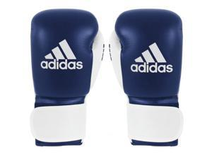 Adidas Glory Professional Hook and Loop Boxing Gloves - 10 oz. - Blue/White