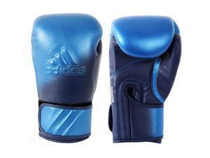 Adidas Speed 300D Hook&Loop Boxing Gloves- 16 oz. -Metallic Blue/Collegiate Navy