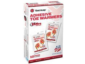 Yaktrax Air Activated 5 Hour Adhesive Toe Warmers - 10 Pairs