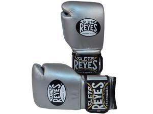 Cleto Reyes Hook and Loop Leather Training Boxing Gloves - 14 oz. - Titanium