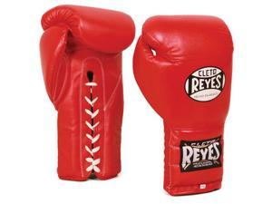 Cleto Reyes Traditional Lace Up Training Boxing Gloves - 18 oz - Red