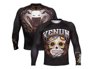 Venum Santa Muerte 2.0 Long Sleeve MMA Rashguard - Small - Black