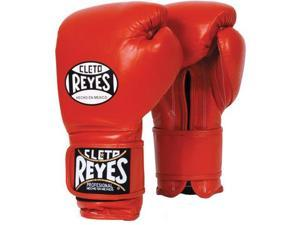 Cleto Reyes Hook and Loop Leather Training Boxing Gloves - 12 oz - Red