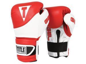 Title Boxing Gel Suspense Training Gloves - 12 oz - Red/White