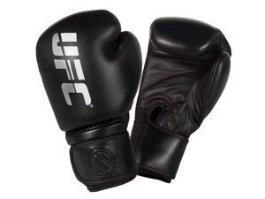 UFC Professional Hook and Loop Heavy Bag Gloves - 12 oz. - Black