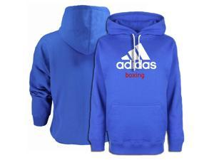 Adidas Community Line Boxing Pullover Hoodie - XL - Vibrant Blue/White