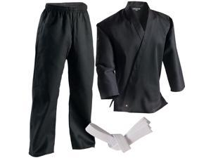 Century 7 oz. Middleweight Student Uniform with Elastic Pant - 5 - Black