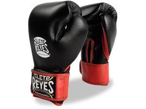 Cleto Reyes Extra Padding Leather Training Gloves - 14 oz - Black