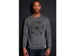 Roots of Fight Bruce Lee Jeet Kune Do Pullover Sweatshirt - 2XL - Vintage Gray