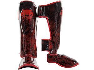 Venum Fusion MMA Shin Guards - XL - Red/Black