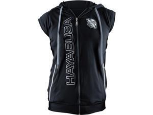 Hayabusa Prime Sleeveless Zip Up Hoodie - Large - Black/Gray