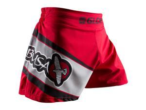 Hayabusa Glory Kickboxing Shorts - 36 - Red