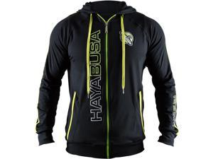 Hayabusa Prime Zip Up Hoodie - Small - Black/Green