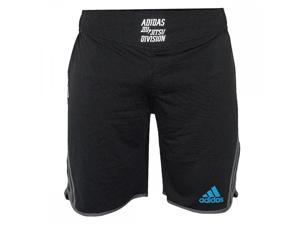Adidas Grappling Drawstring MMA Shorts - Large - Black/Beluga/Blue