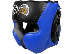 Rival Boxing RHG30 Mexican Style Cheek Protector Headgear - XL - Black/Blue