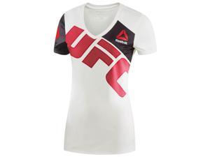 Reebok Women's Combat UFC Brock Lesnar Training Jersey - XXS - White/Red