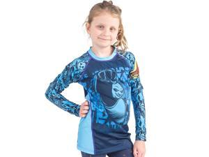 Fusion Fight Gear Kid's KFP Dragon Warrior Long Sleeve Rashguard - Small - Blue