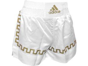 Adidas Thai Kickboxing Shorts - 2XL - White/Gold