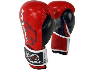 Rival Boxing RB7 Fitness+ Hook and Loop Bag Gloves - 6 oz. - Red/Black