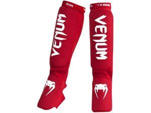 Venum Kontact Slip-On Shin and Instep Guards - Red