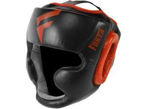 Forza MMA Leather Full Face Headgear - Large - Black/Red