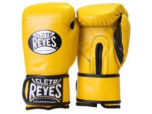 Cleto Reyes Hook and Loop Leather Training Boxing Gloves - 12 oz - Yellow
