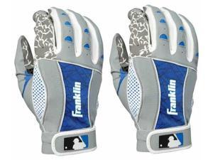 Franklin Insanity Youth Batting Gloves - Large - Gray/Royal