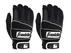 Franklin Youth Neo Classic II Batting Gloves - Medium - Black/Black