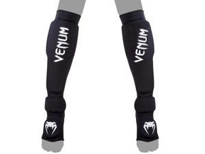 Venum Kontact Evo Shin Guards - XL - Black