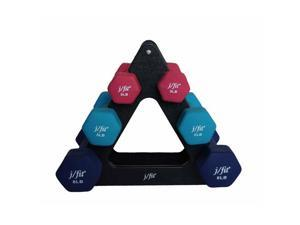 JFit Dumbbell Set with Rack