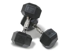 Hampton Fitness 7.5 lb Dura-Bell with Ergonomic Chrome Handle - Pair