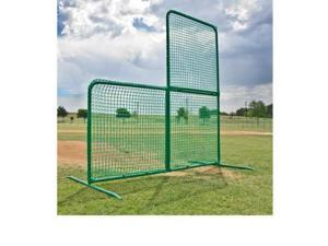 Foldable Baseball L Screen, 7' x 7' w/ Wheels - Varsity