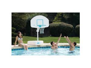 Dunnrite Splash and Shoot Swimming Pool Basketball Hoop with Stainless Steel Rim