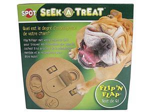 Ethical Pet Seek-A-Treat Flip-N-Flap, Brown, 10 Inch - 5652
