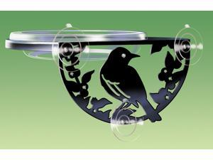 Silhouette Window Feeder Decorative Feeder With A Songbird Silhouette Tray, 6""