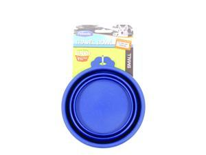 Travel Bowl For Dogs & Cats,  Color: Blue, Size: Small