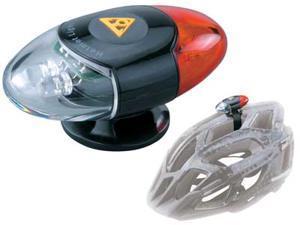 Topeak HeadLux helmet light, white & red LEDs