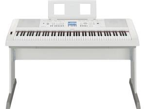 Yamaha DGX-650 PortaGrand Digital Piano with Stand (Spotlight White)