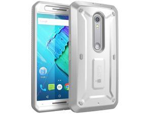 Moto X Pure Edition Case, SUPCASE [Heavy Duty] Belt Clip Holster Case for Motorola Moto X Style /Pure Edition 2015 [Unicorn Beetle PRO] Rugged Protective Cover /Builtin Screen Protector (White/Gray)