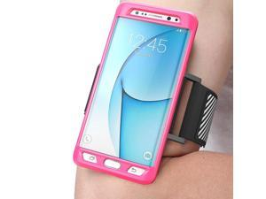 Samsung Galaxy Note 7 Case, SUPCASE Easy Fitting Sport Running Armband with Premium Flexible Case Combo for Samsung Galaxy Note 7 2016 Release/Compatible with Galaxy Note 7 (Pink)