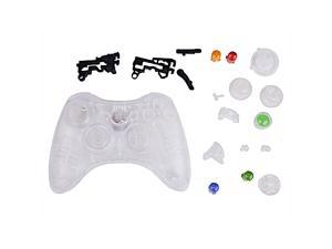Crystal Clear Replacement Xbox 360 Controller Shell Cover Kit + Buttons