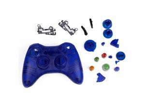 Crystal Blue Replacement Xbox 360 Controller Shell Cover Kit + Buttons